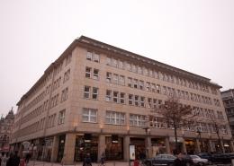 Ansicht des Fölsch-Block von der Bergstraße, Hamburg