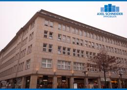 Gebäudeansicht Fölsch-Block - Ecke Hermannstraße und Bergstraße