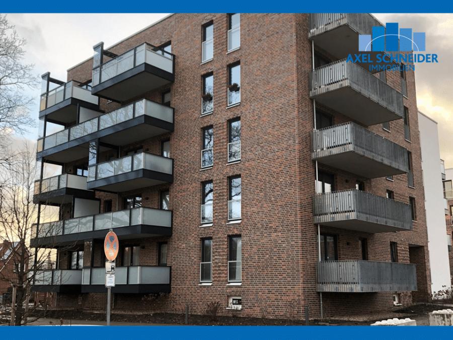Schöne 1-Zimmer-Neubauwohnung in Lohbrügge zu mieten - Hausansicht