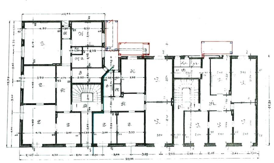 Kapitalanlage mit 12 Wohnungen und Entwicklungspotential zentral in Bergedorf - Grundriss EG