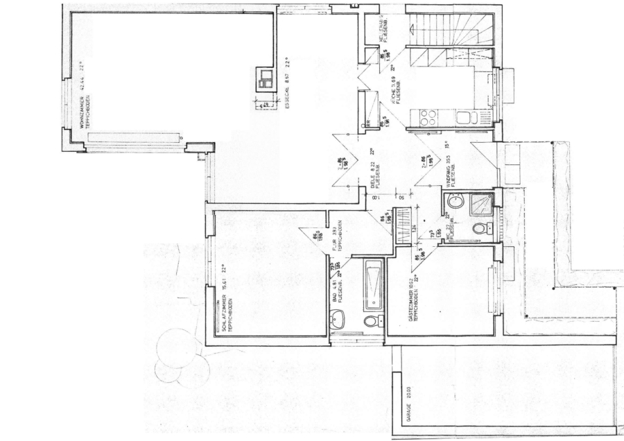 Flachdach-Bungalow auf ca. 710 m² sonnigem Grundstück zu kaufen - EG_Grundriss