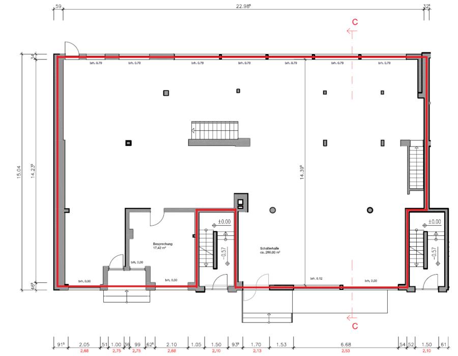 """Ladenfläche von 301m² - teilbar ab 120m² - direkt an der Hauptstraße """"Bramfelder Chaussee"""" - EG"""