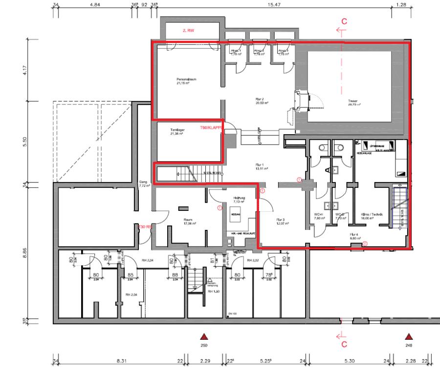 """Ladenfläche von 301m² - teilbar ab 120m² - direkt an der Hauptstraße """"Bramfelder Chaussee"""" - KG"""