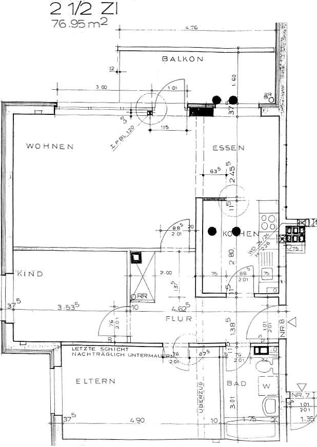 Ruhig, zentral gelegene 2 1/2-Zimmer-ETW inkl. Tiefgaragenstellplatz in Hummelsbüttel - Grundriss