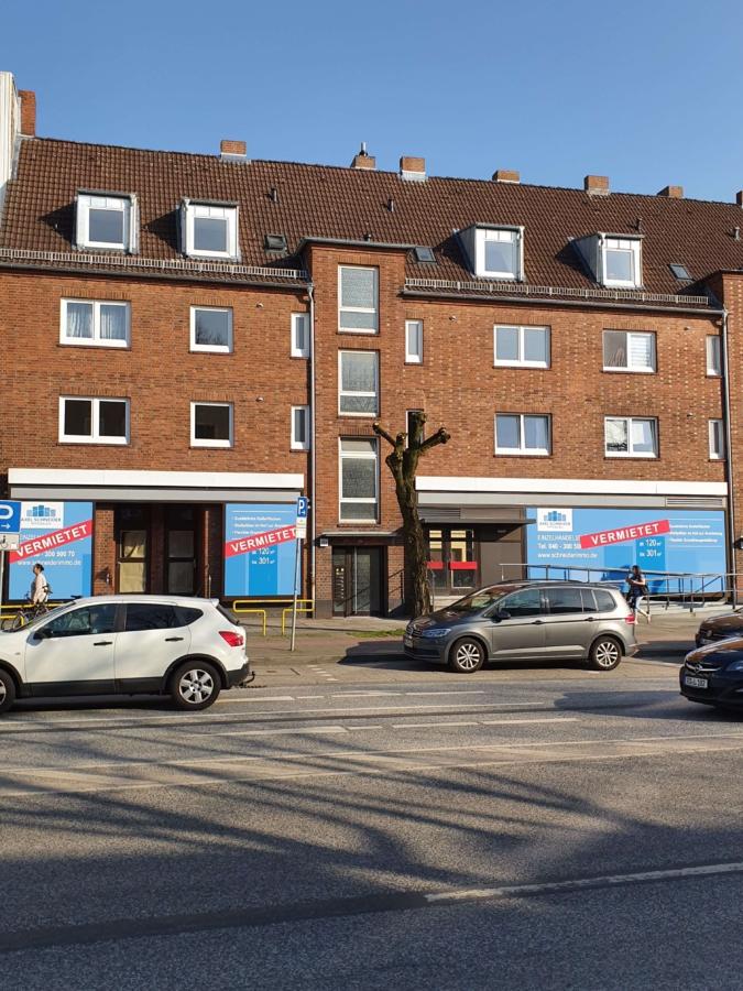 """Ladenfläche von 301m² - teilbar ab 120m² - direkt an der Hauptstraße """"Bramfelder Chaussee"""" - Hausansicht"""